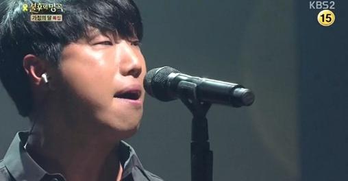 ▲불후의 명곡 김진호 자작곡 '가족사진'(사진:KBS 방송캡처)