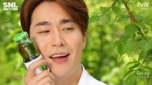 ▲조성모 매실광고 패러디(사진:tvN 방송캡처)