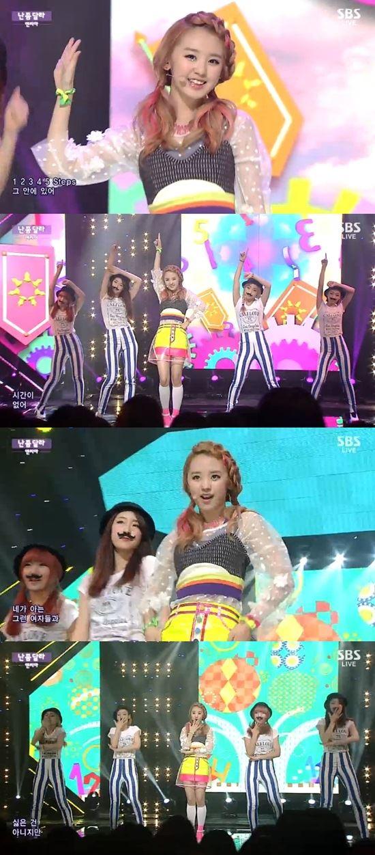 앤씨아 /SBS '인기가요' 방송 캡처