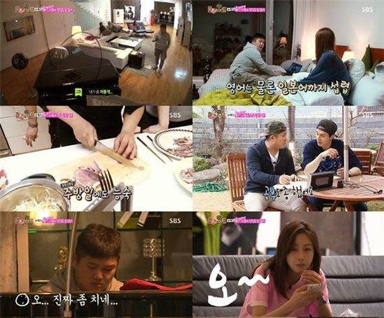 ▲피아노 치는 조세호.(사진:SBS '일요일이 좋다 -룸메이트 방송화면 캡처)