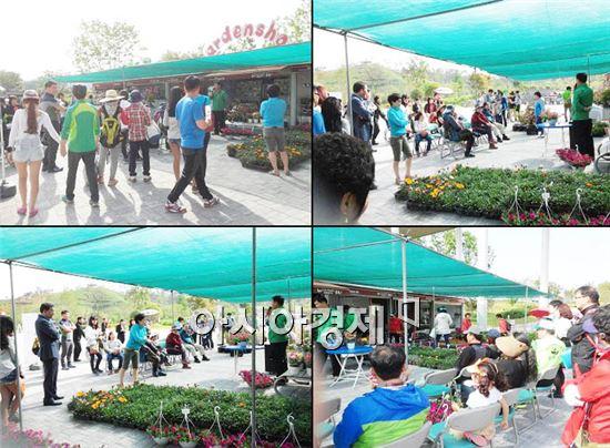 순천만정원, 매주 조경·화훼 경매시장