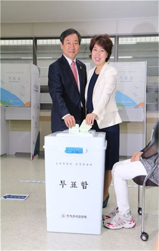 6.4지방선거.유정복 후보가 인천광역시장에 당선됐다