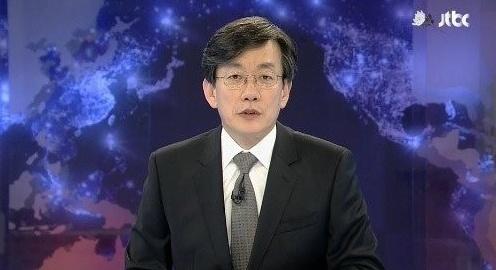 ▲손석희가 진행하는 JTBC 개표방송의 출구조사와 지상파 방송 3사의 출구조사가 다르게 나왔다.(사진:JTBC 방송 캡처)