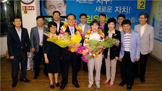 광주광역시 서구청장에 새정치민주연합 임우진 후보가 당선됐다.