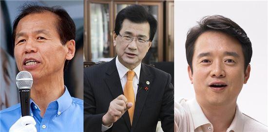 최문순 강원지사, 이시종 충북지사, 남경필 경기지사 당선인(왼쪽부터 차례대로)
