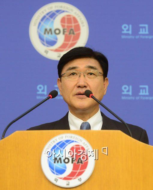 [포토]노광일 대변인 '日, 허황된 독도 집회 중단하라'