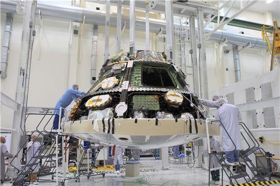 ▲오는 연말 오리온 우주선은 시험비행에 나선다.[사진제공=NASA]