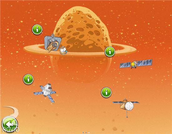 ▲앵그리버드 '비크 임팩트'에 담길 오리온 우주선.[사진제공=ROVIO]