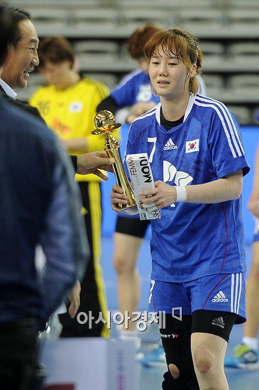 [포토]김온아, '오늘 경기의 MVP'