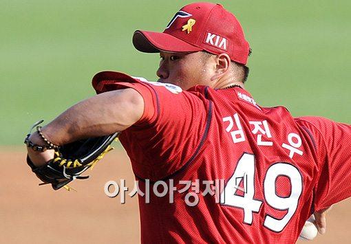 [포토]KIA 선발 김진우의 카리스마 눈빛