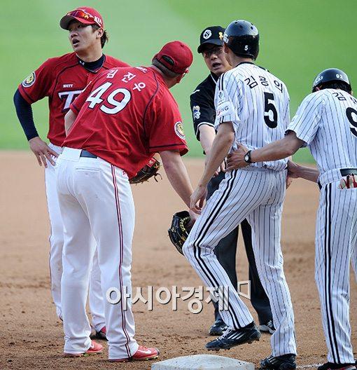 [포토]김주찬, '난 정말 억울하다구요!'