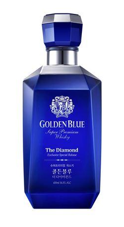 골든블루가 출시한 슈퍼프리미엄 위스키 '골든블루 다이아몬드'