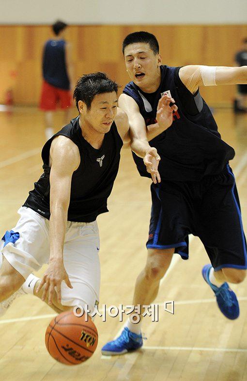 [포토]조성민-김진수, '훈련은 실전처럼'