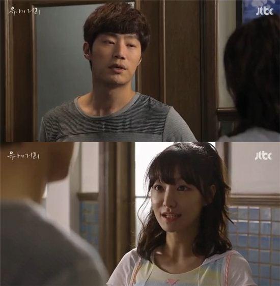 ▲'유나의 거리' 이희준과 신소율. (사진: JTBC '유나의 거리' 영상 캡처)
