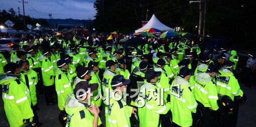 [포토]경찰 병력 늘어난 금수원