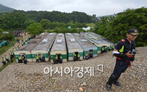 [포토]금수원 내부 수색하는 경찰들