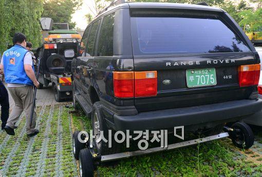 [포토]유병언 딸 유섬나씨 차량