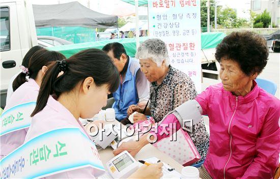 함평군 보건소는  이달 중 전통시장을 방문하는 주민을 대상으로 '내 혈압·혈당 바로알기 캠페인'을 벌인다.