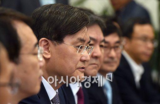 서승환 국토교통부 장관이 13일 서울 여의도 국회에서 열린 주택시장 활성화 관련 당정협의에서 모두 발언을 하고 있다.