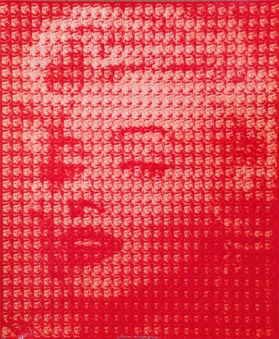 김동유, Marilyn Monroe vs John F. Kennedy, 2013, 6 Layers silk screen, 60 x 50 cm