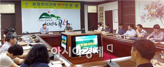 곡성군은 13일 군청 소통마루에서 육군 제7391부대 3대대와 공동으로 2014년 2/4분기 중점관리자원 확인의 날 행사를 개최했다.
