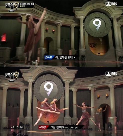 ▲댄싱9 시즌2에 현대무용수 최수진이 참가해 관심을 받고 있다. (사진:Mnet '댄싱9' 방송 캡처)