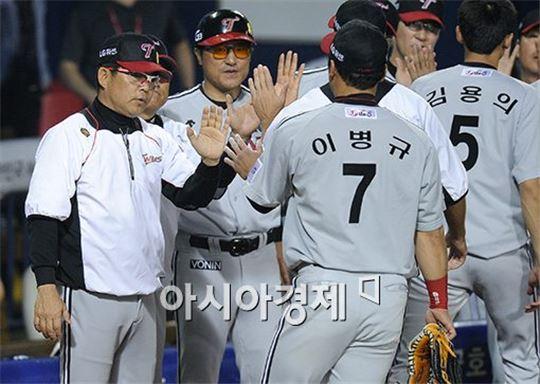 양상문 LG 트윈스 감독(맨 왼쪽)[사진=김현민 기자]