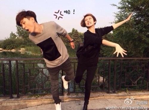 ▲이승현과 치웨이 열애(사진: 치웨이 웨이보)