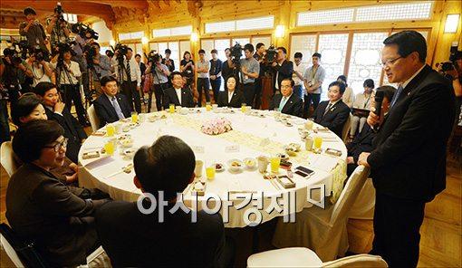 [포토]인사말하는 정의화 국회의장