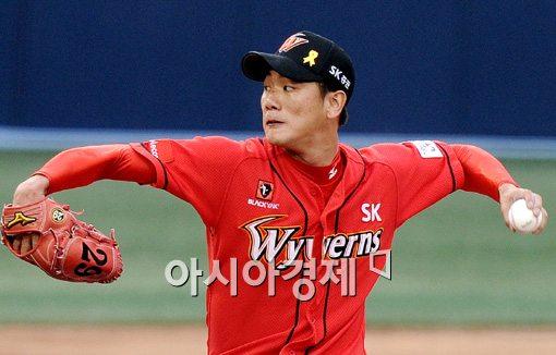 [포토]김광현,'연패 탈출 위해 에이스 출격'