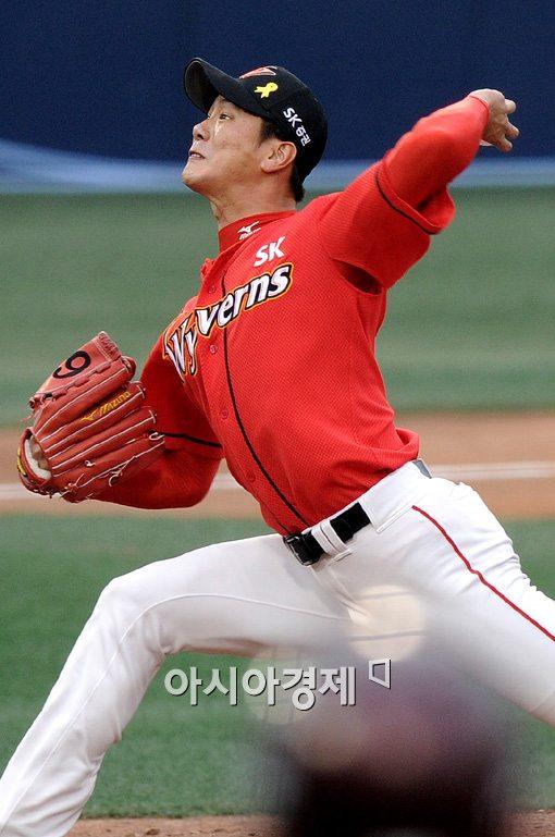 [포토]역투하는 SK 에이스 김광현