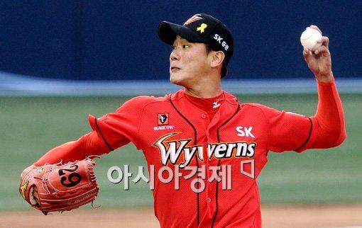[포토]김광현,'SK 선발은 바로 나'