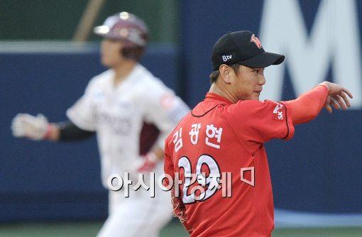 [포토]김민성-김광현,'희비교차'