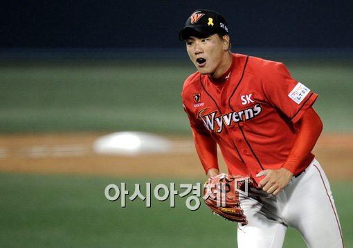 [포토]위기관리 능력 보여준 에이스 김광현