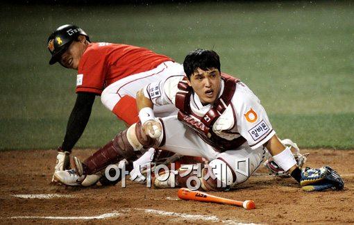 [포토]박동원,'홈은 절대 허락 못해!'