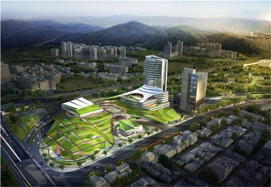 ▲aT 화훼공판장 재개발 조감도. (자료 : aT)