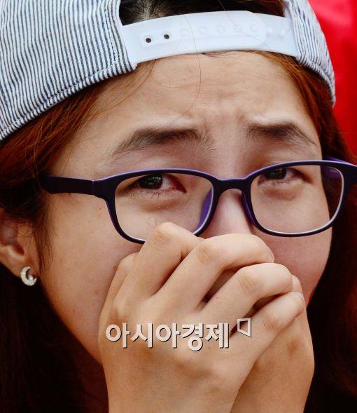 [포토]대한민국, 16강 진출 실패, '슬프다..'
