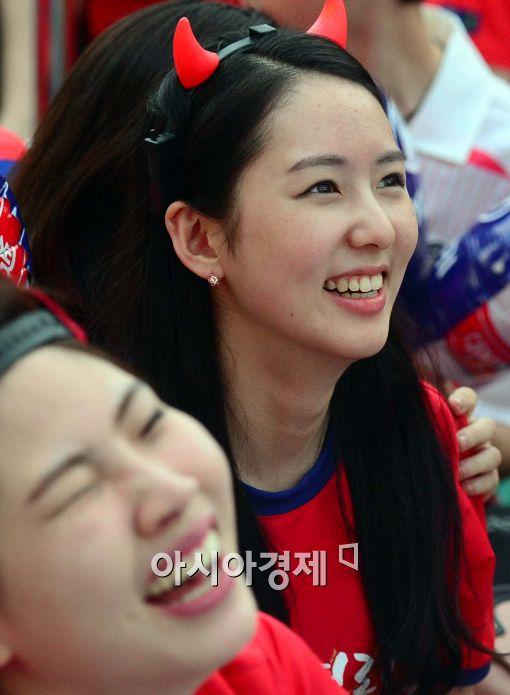 [포토]월드컵 응원녀,'아쉬워....'