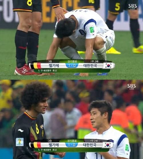 ▲펠라이니 이근호 유니폼 교환요청 장면. (사진: SBS 경기영상 캡쳐)
