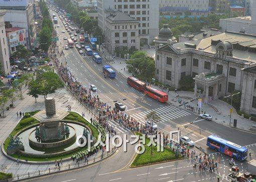 [포토]전교조 사수 위해 거리로 나온 선생님들