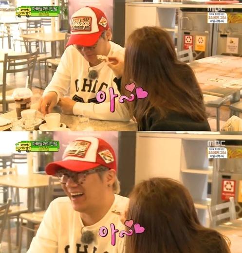 ▲윤민수와 아내 김민지 (사진:MBC '아빠어디가' 방송 캡처)