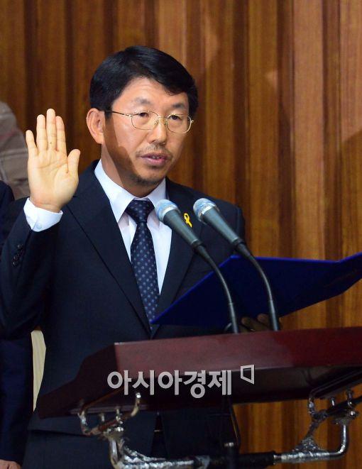 [포토]김석균 해경청장,'진실만을 말하겠습니다'