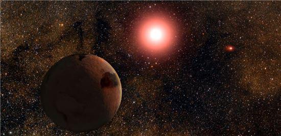 ▲두 개의 별을 가진 쌍성계 행성이 발견돼 비상한 관심을 모으고 있다.[사진제공=천체물리연구소]