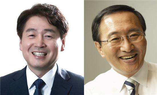 서울 동작을에 출마한 기동민 새정치민주연합 후보(왼쪽) 노회찬 정의당 후보(오른쪽)