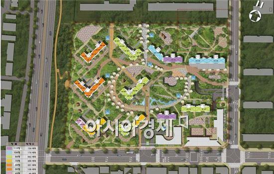서초동 무지개아파트 단지 배치도(자료 : 서울시)