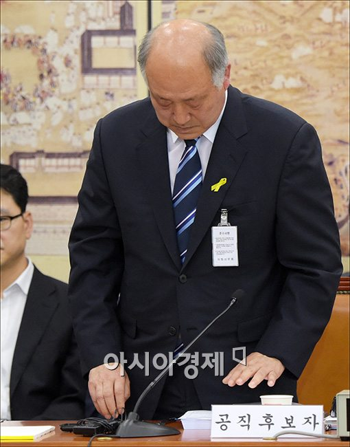 교육부장관 후보자 인사청문회 참석 중인 김명수 후보자