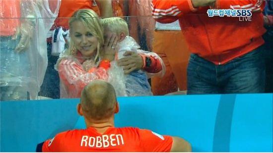 로벤 아들 폭풍 눈물.(사진:SBS 캡처)