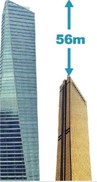 송도 '동북아무역센터'(좌)와 63빌딩