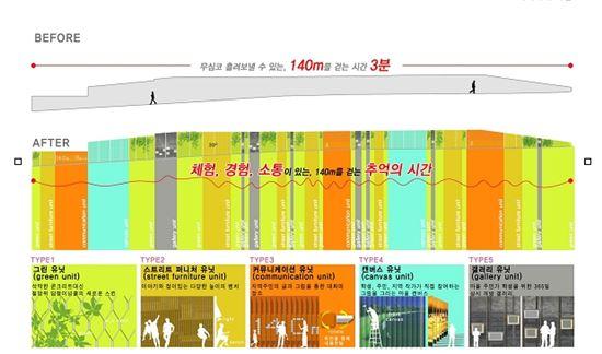남욱재 건축사의 서초등학교 옹벽시설물 디자인개선사업안