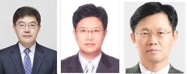 사진 왼쪽부터 박정환 김가네 사장, 최종만 강강술래 사장, 김주형 강강술래 상임경영고문